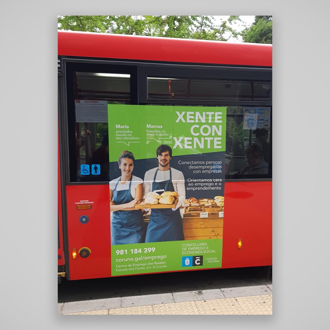 Campaña de publicidad Xente con Xente Concellería de Emprego de A Coruña